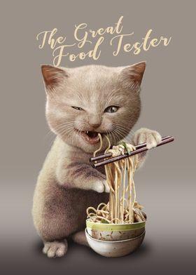 CAT EAT NOODLE