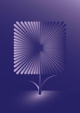 Violet square flower