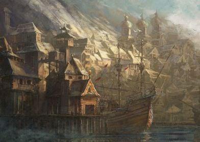 Koga in the port
