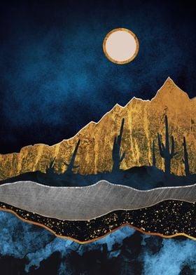 Midnight Desert Moon