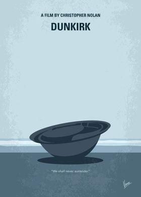 No905 My Dunkirk minimal movie poster