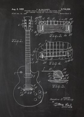 1953 Electric Guitar - Patent Drawing