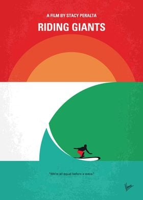 No915 My Riding Giants minimal movie poster