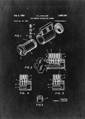 """Pin tumbler cylinder key system"" - E.L. Schlage"