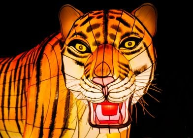 Glow in the dark tiger