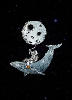 humpback whale and the astronaut