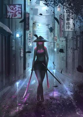 Badass samurai girl