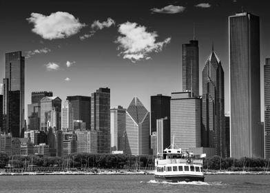CHICAGO Skyline monochrome