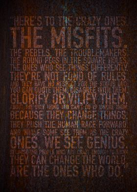 Here's to the crazy ones. Rust edition.