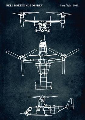 No002 - BELL BOEING V-22 OSPREY -First flight 1989