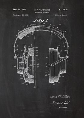 1963 Headphone Assembly - Patent Drawing