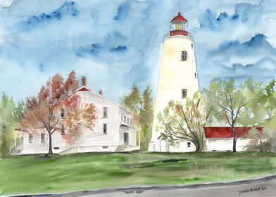 SandyHook Lighthouse Painting