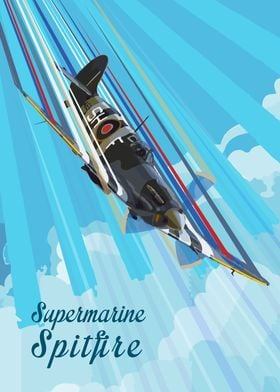 Supermarine Spitfire Pop Art
