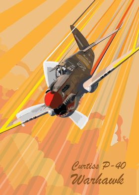 P-40 Warhawk Pop Art