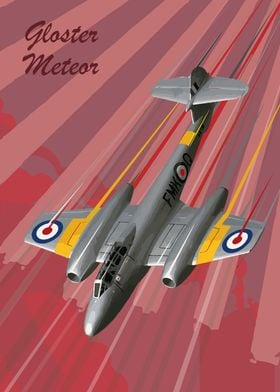 Gloster Meteor Pop Art