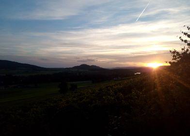 Sunset over Stein am Rhein