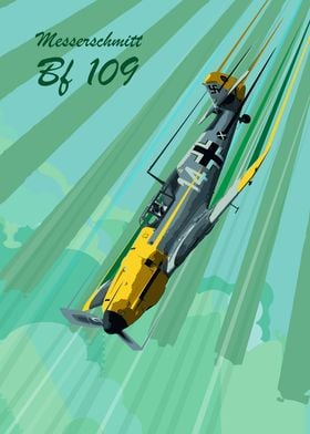 Messerschmitt BF 109 Pop Art