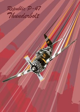 Republic P-47 Thunderbolt Pop Art