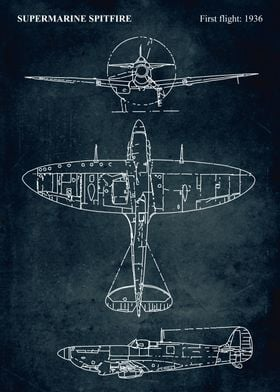 No023 - SUPERMARINE SPITFIRE - First flight 1936