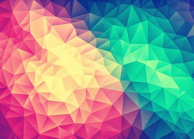 ColorBomb! Abstract Polygon MultiColor LowPoly Art
