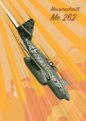 Messerschmitt ME 262 pop Art