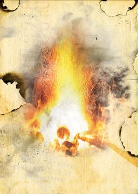 Burnt Parchment I