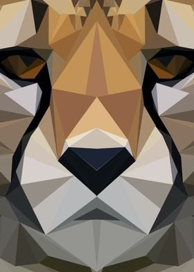 Low Poly Cheetah