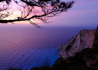 From the standing point in Zakynthos Island