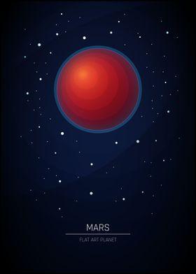 Mars - Flat Art Planet