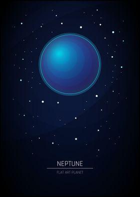 Neptune - Flat Art Planet