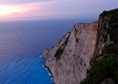Sunset view in Zakynthos Island