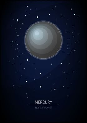 Mercury - Flat Planet Art