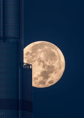 Super-moon Burj khlifa