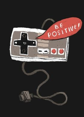 be positive! nes controller. d-pad