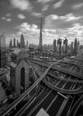 Empty Dubai Roads