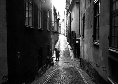 Narrow Streets of Stockholm's Old Town