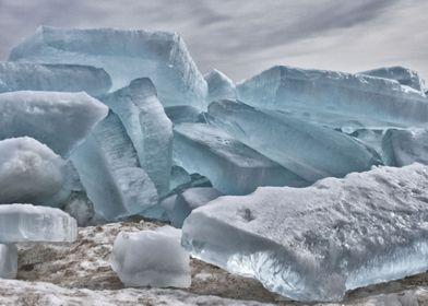 Blue Ice Blocks