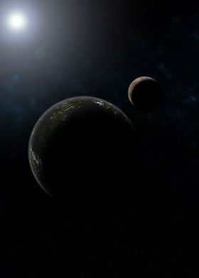A Planet and its Moon