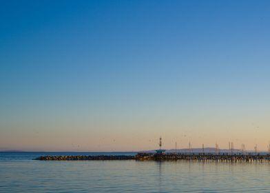 white rock pier sunset