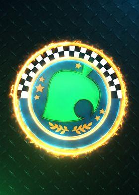 3d crossing cup Emblem