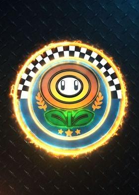 3D flower Cup Emblem