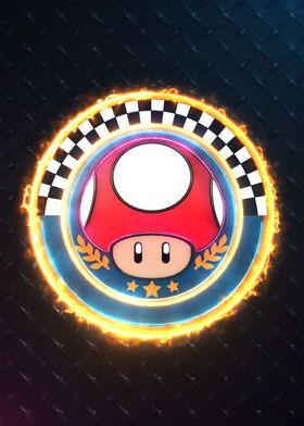 3D Mushroom Cup Emblem