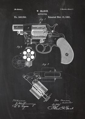 1881 Revolver - Patent Drawing