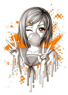 Bubblegum Manga Girl