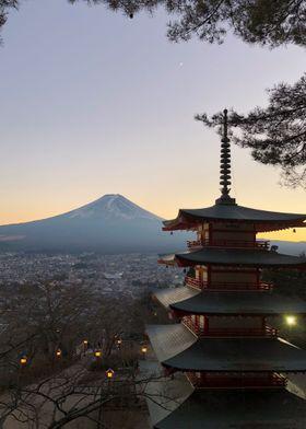 Funji Sunset - Japan