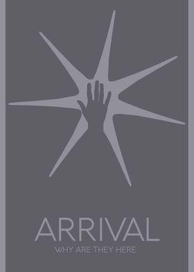 'Arrival' Minimalist Movie Poster