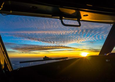 Sunset from the flightdeck