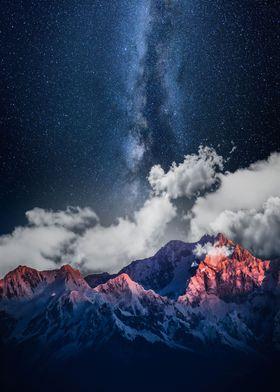 Mountain Peak & Milky Way