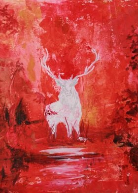 Stag in the Red