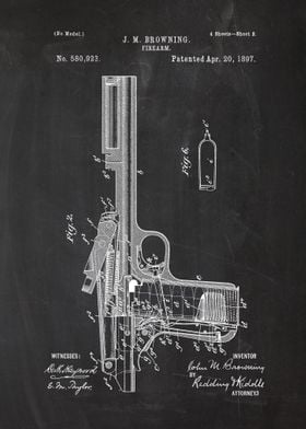 1897 Firearm - Patent drawing
